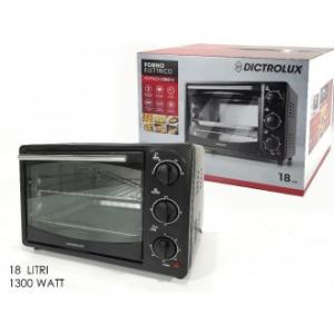Forno Elettrico 18 Litri Colore Nero Elettrodomestici Casa Con 3 Modalità Di Cottura Cucina