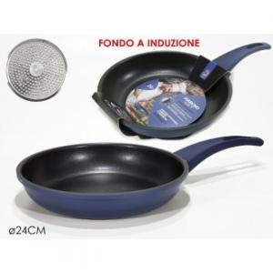 Padella Diamond Navy 24 Cm Con Fondo Ad Induzione Blu Cucina Casa