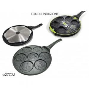 Padella Per Pancakes Con 7 Posti 26 Cm Antiaderente Con Fondo Ad Induzione Casa Cucina Padelle