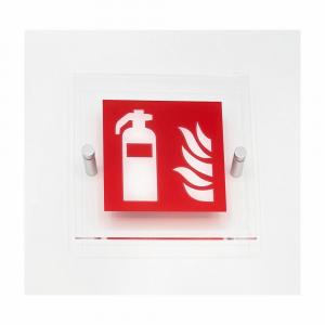 Cartello in plexiglass serie Plexline pittogramma estintore