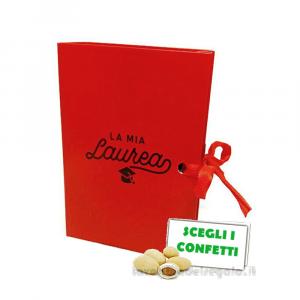 Portaconfetti libro Rosso per Laurea 7x6x3 cm - Scatole laurea