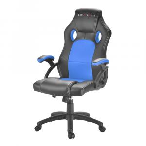 TWO DOTS - Sedia Racing Gaming Colore Blu e Nero