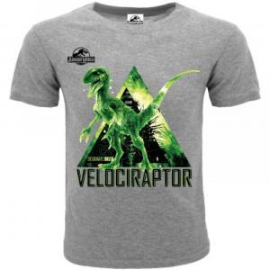 T-shirt Jurassic World Velociraptor 3/4 - 5/6 - 7/8 - 9/11 -12/13 anni
