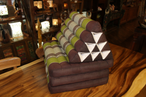 Cuscino a piramide 3 ripiani in cotone thai (3 FOLD STANDARD)