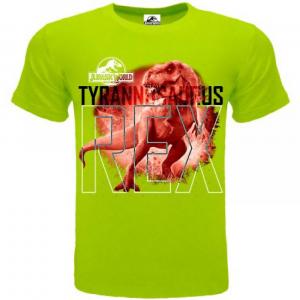 T-shirt Jurassic World T-Rex verde 3/4 - 5/6 - 7/8 - 9/11 - 12/13 anni