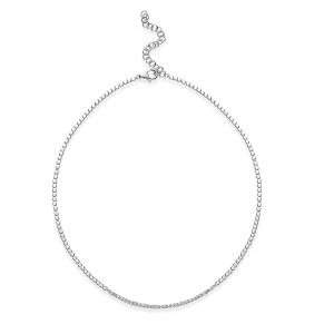 Collana donna Rosato cubica in argento 925 con zirconi bianchi RZC038