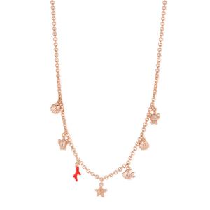 Collana donna Rosato storie in argento 925 rosè con ciondoli mare RZIB02