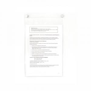 Tasca in plexiglass porta documenti