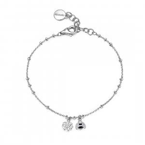 Bracciale donna Rosato storie in argento 925 con ciondoli primavera RZGA16
