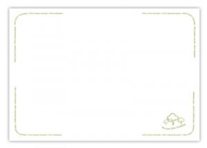 Tovaglietta 40x30 cm - Save The Trees bianca