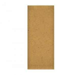 Busta portaposate in carta paglia con tovagliolo