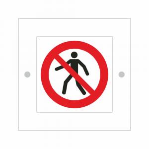 Cartello in plexiglass serie Plexline Economy vietato l'accesso