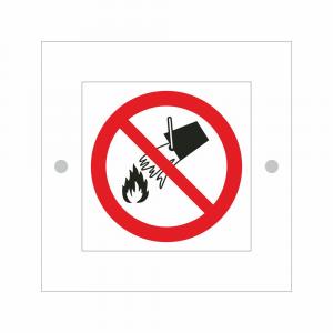 Cartello in plexiglass serie Plexline Economy non usare acqua per spegnere incendi