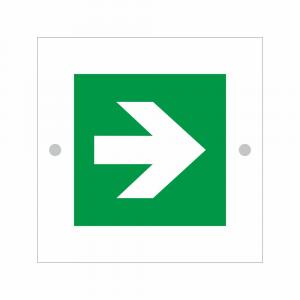 Cartello in plexiglass serie Plexline Economy pittogramma E005 freccia direzionale