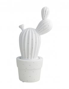 Lampada cactus bianca in porcellana