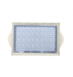 H&H vassoio Blue Dream bianco e blu 35x21
