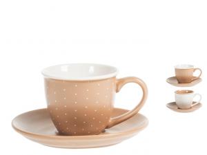 H&H confezione regalo 4 tazzine caffè Cinnamon