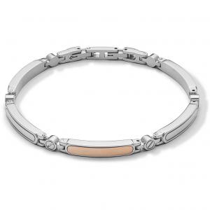 Comete Elegant bracciale uomo in acciaio lucido PVD rosè UBR1010