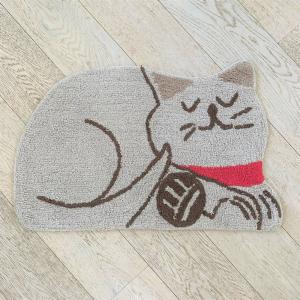 Tappeto sagomato gattino tortora