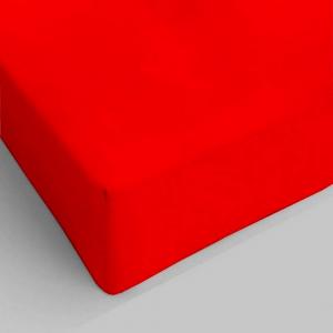 Lenzuolo da sotto con angoli rosso piazza e mezzo