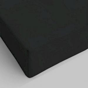 Lenzuolo da sotto con angoli nero piazza e mezzo