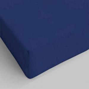 Lenzuolo da sotto con angoli blu scuro piazza e mezzo