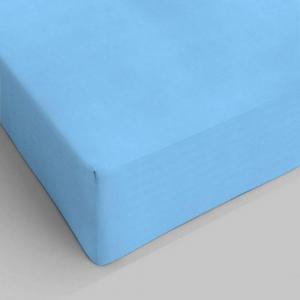 Lenzuolo da sotto con angoli azzurro singolo