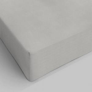 Lenzuolo da sotto con angoli grigio chiaro singolo