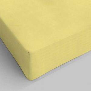 Lenzuolo da sotto con angoli giallo chiaro singolo