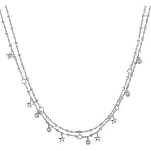 Collana donna Rosato storie in argento 925 doppio filo RZC019