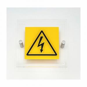Cartello in plexiglass serie Plexline Economy Pericolo corrente elettrica