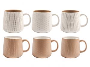 H&H tazza mug a bicchieri marron e bianca