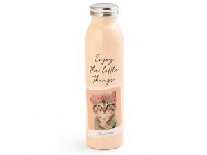 Rachaelhale bottiglia termica gatto 600ml rosa