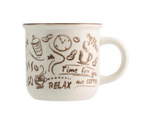 H&H tazza pausa caffè 450ml avorio