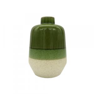Abhika Edg vaso Hermes sfumato verde altezza 23cm