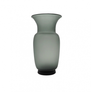 EDG vaso vetro anfora grigia h34
