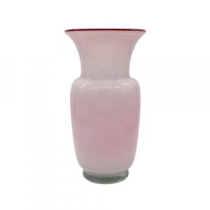 EDG vaso vetro anfora bianca e rossa h34