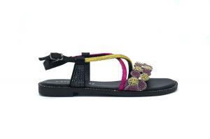 Sandalo gioiello con strass
