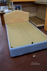Bed Container - To Square And Middle Color Light Blue With Slatted Base