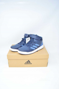Scarpe Adidas Blu N 38 2/3 Alta Sport Mid K Nuovo