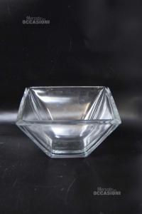 Vase Glass Square 20x20x11 Cm