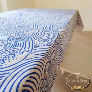 Tovaglia Wave Blu 140 x 360