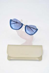 Occhiali Da Sole Emporio Armani EA4120 5694/8E Lente Azzurra Struttrura Blu