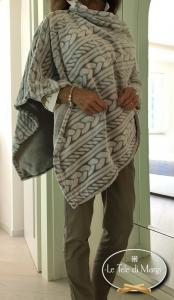 Poncho Flannel tortora