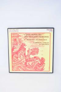 Canti Popolari Of Old Piemonte 33 Turns Disc
