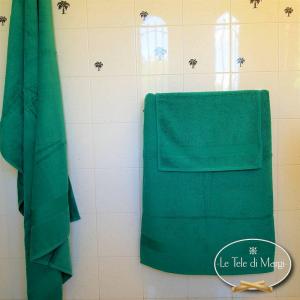 Asciugamani made in Italy tinta Unita Verde