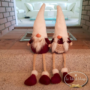 Gnomo gambe a penzoloni bianco