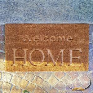 Zerbino Welcome Home Intagliato