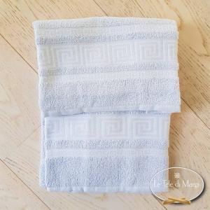 Asciugamani Greca grigio polvere