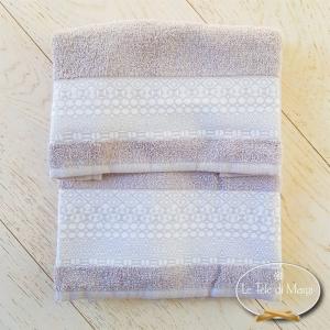 Asciugamani piedipull geometrico tortora